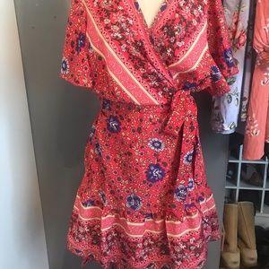 Dresses & Skirts - Wrap dress boho bohemian size 16/18